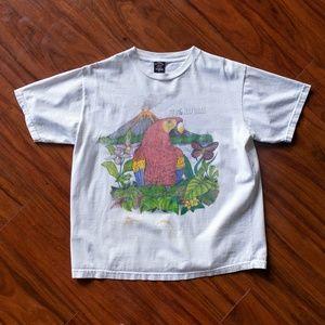 Vintage 90s 100% Natural T-Shirt Mundo Parrot Tee